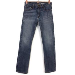 Men's Levi's distressed paint Slim Straight Jeans